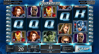 The Avengers gokkast screenshot